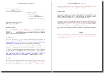 Requête fiscale auprès du tribunal administratif