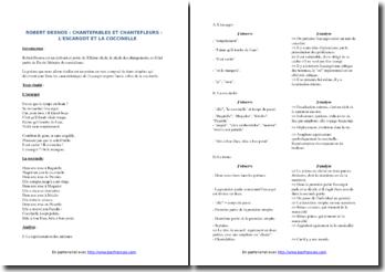 Robert Desnos, Chantefables et Chantefleurs, L'escargot - La coccinelle : commentaire composé