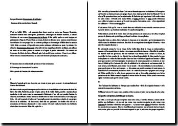 Jacques Roumain, Gouverneurs de la rosée, Annonce de la mort de Manuel