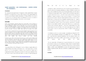 Saint Augustin, Les Confessions, Extrait : commentaire composé