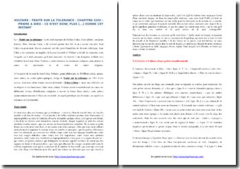 Voltaire, Traité sur l'intolérance, Chapitre XXIII, Prière à Dieu, Extrait : commentaire composé