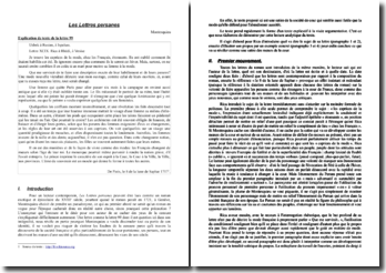 Montesquieu, Lettres persanes, Lettre 99 : analyse