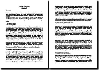 Voltaire, Candide, Chapitre 3 : commentaire