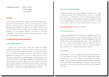 La Fontaine, Le Loup et l'Agneau : commentaire