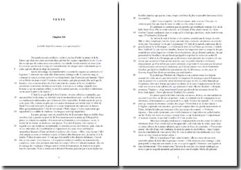 Voltaire, L'Ingénu, Chapitre XX : commentaire composé