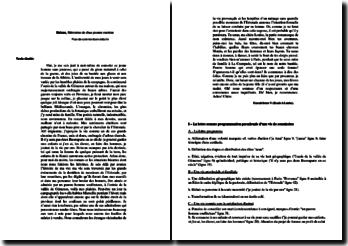 Balzac, Mémoires de deux jeunes mariées, Lettre V, Extrait : plan détaillé de commentaire