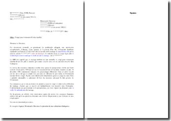 Lettre de contestation suite à un décompte illégal de congés payés pour événement familial