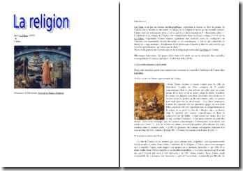 Le thème de la religion dans La Chute de Camus