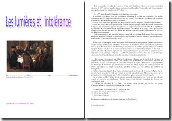 Les Lumières et l'intolérance