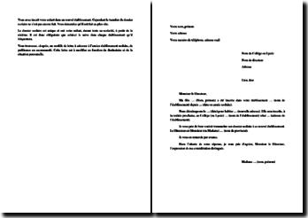 Lettre Type De Demande De Transfert De Dossier Scolaire Suite A Un