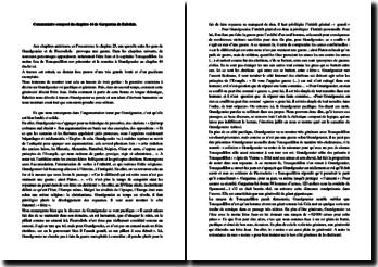 Rabelais, Gargantua, Chapitre 44 : commentaire