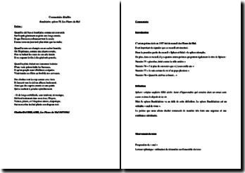 Baudelaire, Les Fleurs du Mal, Spleen 78 : étude linéaire
