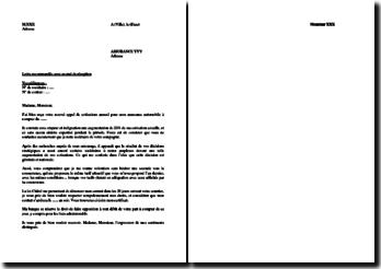Modèle de résiliation d'assurance automobile selon la Loi Châtel (2007)