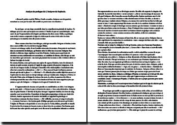 Sophocle, Antigone : étude du prologue