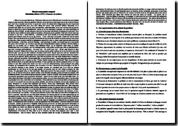 Giraudoux, Electre, Le lamento du jardinier : plan détaillé de commentaire