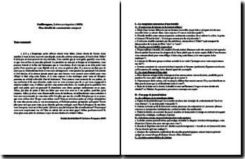 Guilleragues, Lettres portugaises, Fin de la lettre IV : plan détaillé de commentaire