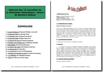Barbara Sadoul, La dimension fantastique, Tome 1 (Collège)