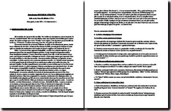 Rousseau, Julie ou La Nouvelle Héloïse, Partie I, Lettre XIV : plan détaillé de commentaire