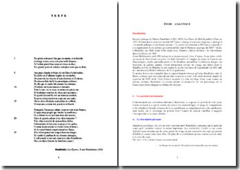 Baudelaire, Les Epaves, A une Malabaraise : étude analytique