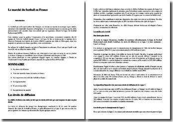 Le marché du football en France