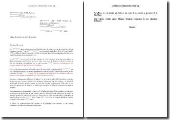 Lettre de contestation de refus de restitution du dépôt de garantie