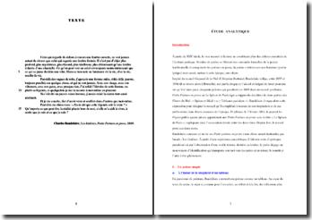 Baudelaire, Petits Poèmes en prose, Les fenêtres : étude analytique