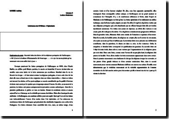 Guilleragues, Les lettres de la religieuse portugaise, Lettre 2 : commentaire