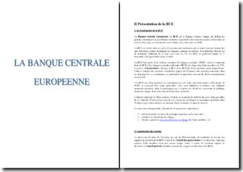 La Banque Centrale Europeenne (BCE)