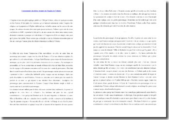 Voltaire, L'Ingénu, Incipit, Extrait : commentaire composé