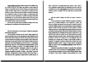 Diderot, Jacques le fataliste : commentaire de l'incipit
