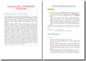 Marguerite Yourcenar, Souvenirs Pieux, Incipit : commentaire