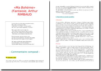 Arthur Rimbaud, Poésies, Ma Bohème