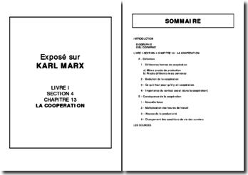 Karl Marx, Le Capital, Livre I, Section 4, La coopération : analyse