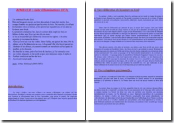 Rimbaud, Illuminations, Aube : commentaire composé