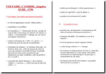 Voltaire, Candide, Chapitre 18, Extrait : plan détaillé