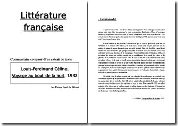 Louis-Ferdinand Céline, Voyage au bout de la nuit, Les usines Ford : commentaire composé