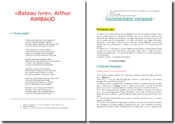Rimbaud, Bateau ivre : commentaire