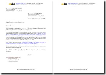 Lettre de demande de renouvellement du bail (vente à la découpe d'un immeuble locatif)