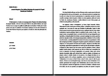 Condorcet, Esquisse d'un tableau historique des progrès de l'esprit humain, Les philosophes des Lumières : étude de texte