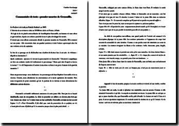 Patrick Süskind, Le Parfum, Le premier meurtre de Grenouille : commentaire
