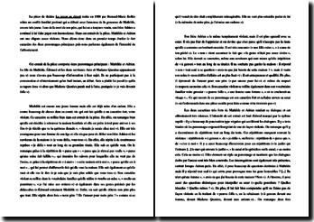 Bernard-Marie Koltès, Retour au désert, Extrait : commentaire composé