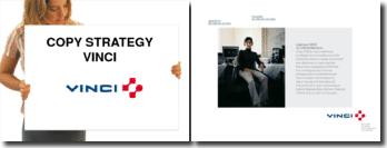 Publicité : copy strategy d'une publicité Vinci