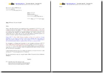 Lettre de demande de délivrance par huissier d'un acte déclaratif au bailleur (exercice du droit de préemption)