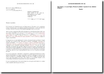 Lettre de dénonciation à la HALDE de refus de location pour raisons discriminatoires (nom à consonance étrangère)