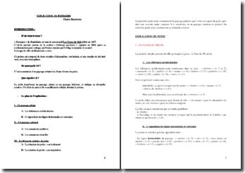 Baudelaire, Les Fleurs du Mal, Tableaux Parisiens, Paysages : commentaire