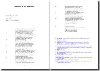 La Fontaine, Fables, Démocrite et les Abdéritains : analyse