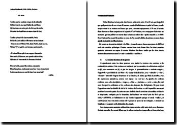 Rimbaud, Poésies, Le Mal : commentaire composé