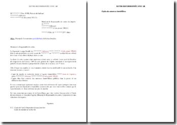 Lettre de demande d'exonération de la taxe foncière en cas de vacance de logement à usage locatif