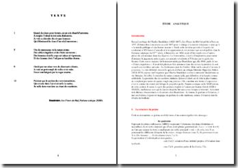 Baudelaire, Les Fleurs du Mal, Parfum exotique : analyse