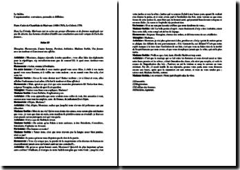 Marivaux, La Colonie, Scène 13 : commentaire composé